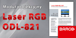 Laser RGB ODL-821 – polska ulotka dla modułu projekcyjnego 80″ z podświetleniem laserowym